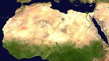 Image satellite du Sahara
