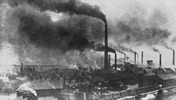 La révolution industrielle a été à l'origine d'une pollution massive, par aérosols et gaz, de l'air. C'est aujourd'hui l'automobile, l'érosion agricole et les incendies de forêt qui sont les premières sources d'émission