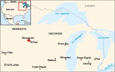 Situation de Minneapolis aux États-Unis.
