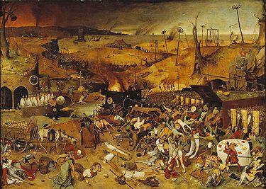Le triomphe de la mort Peinture de Pieter Bruegel l'Ancien (1562).