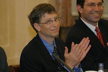 Bill Gates en Pologne en 2006