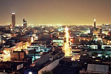 Mexico, la nuit en 2005