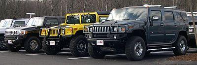En 2006: H3, H1, et H2 (de gauche à droite)
