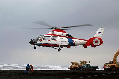 AS.365N utilisé par les garde-côtes islandais.