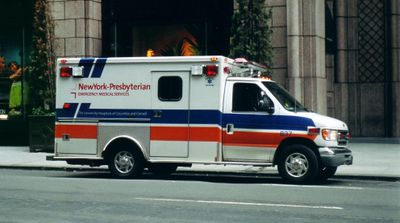 Une ambulance à New York (USA)