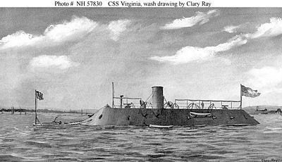Le CSS Virginia, ex-Merrimack.