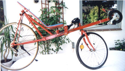 Un exemple de vélo couché