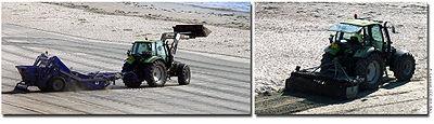 Nettoyage des plages polluées