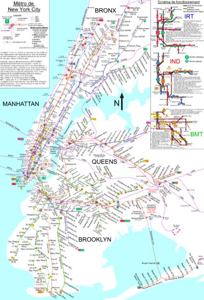 Le plan complet du métro en 2004