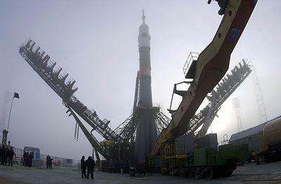 Soyouz TM-31 en position de lancement
