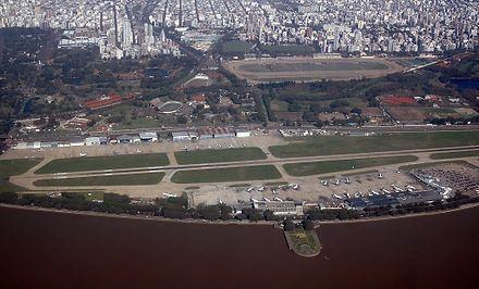 Vue aérienne de l'Aeroparque