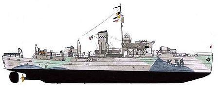 Corvette Aconit des FNFL durant la seconde guerre mondiale