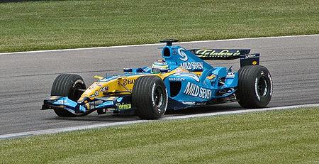 Giancarlo Fisichella au volant de la R25