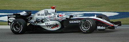 Kimi Räikkönen lors des qualifications du Grand Prix des États-Unis au volant de la MP4-20