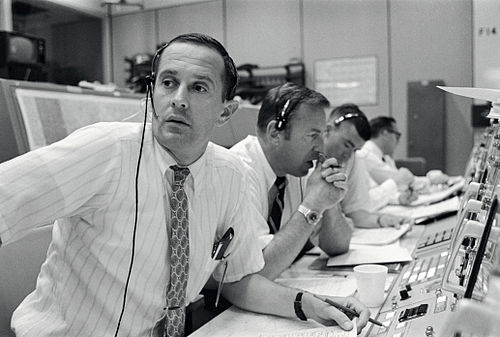 Le CapCOM de la mission Apollo 11.