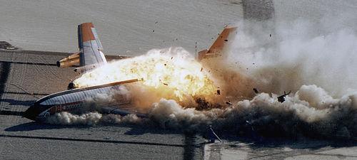 Image d'une collision d'avion (démonstration)
