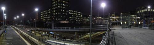 Vue panoramique sur les passerelles de la gare