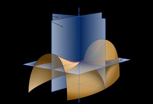 Illustration des courbures principales
