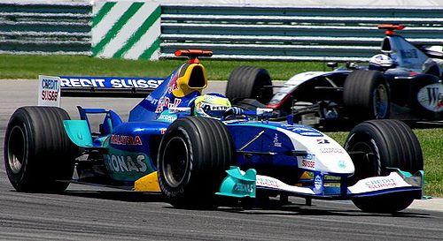 Giancarlo Fisichella au volant de la C23 au grand prix des Etats-Unis