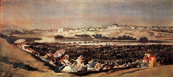 Francisco Goya, vue de Madrid, 1788, Mus�e du Prado.