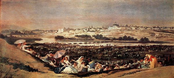 Francisco Goya, vue de Madrid, 1788, Musée du Prado.