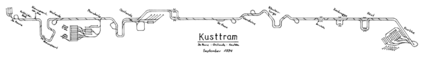 Carte du Kusttram 1994