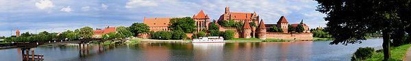 murailles de la forteresse de Malbork, en Pologne