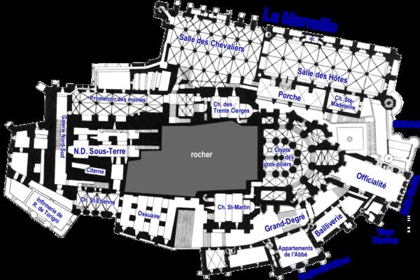 Plan des divers niveaux du mont saint michel d finition et explications - San michele mobili catalogo pdf ...