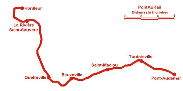 Plan de la ligne du PontAuRail.