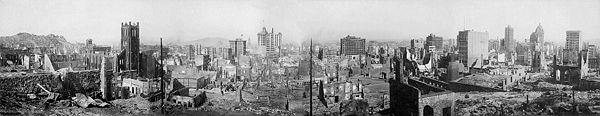 Tremblement de terre de San Francisco en 1906.