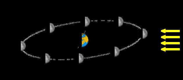 Position de la Lune et phase lunaire