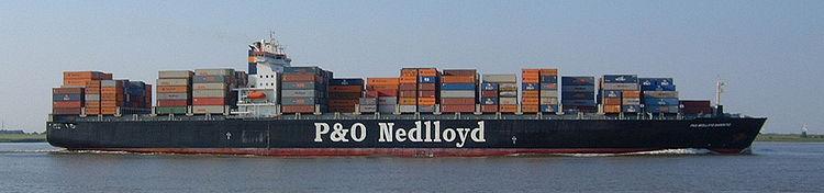 Le P&O Nedlloyd Barentsz près de Hambourg