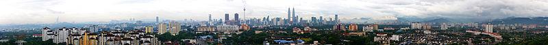 Panorama de Kuala Lumpur depuis Cheras
