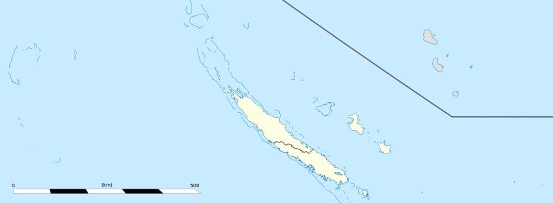 Carte administrative de Nouvelle-Calédonie