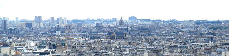 Vue panoramique de Paris, depuis Montmartre.