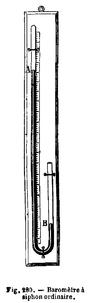 Baromètre à siphon ordinaire