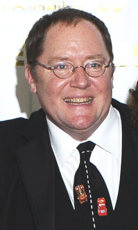 John Lasseter at the 34th Annual Annie Awards, wear a Cars : Quatre roues tie.