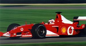 Rubens Barrichello au Grand Prix des États-Unis 2003