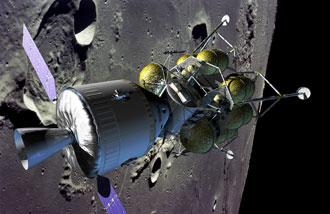 Orion et le module lunaire