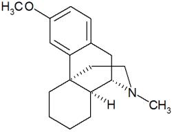 Structure du dextrométhorphane