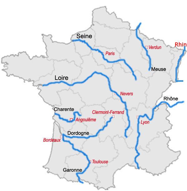 principaux fleuves de france
