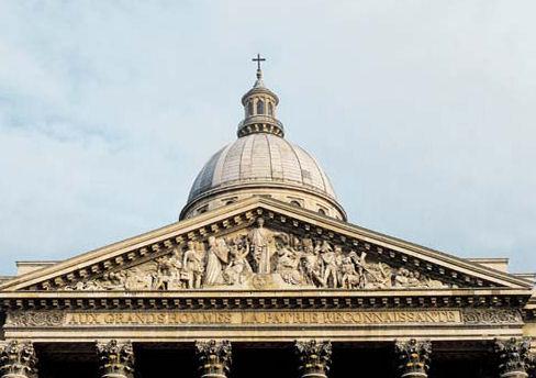 Fronton historié du Panthéon de Paris (Jacques-Germain Soufflot arch. et David d'Angers sculpt.)