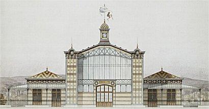 La gare du Champ-de-Mars (remontée plus tard en gare électrique de Bois-Colombes).