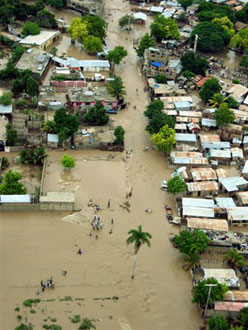 Inondation à Haïti.
