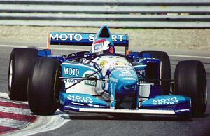 Johnny Herbert au volant de la Benetton B195, au Grand Prix du Canada 1995