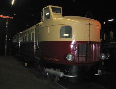 Une Micheline sauvegardée à la Cité du train de Mulhouse.