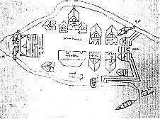 Croquis représentant possiblement Montréal vers 1647
