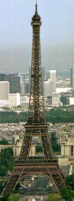 Tour Eiffel vue depuis la tour Montparnasse