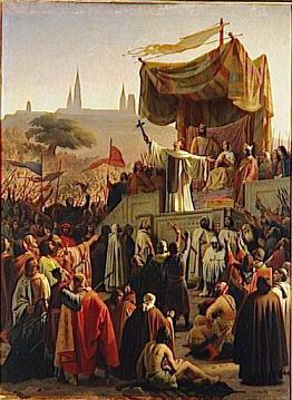 Saint Bernard prêchant la 2e croisade, à Vézelay, en 1146