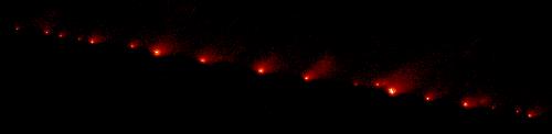 La comète Shoemaker-Levy 9 vue par Hubble le 17 mai 1994